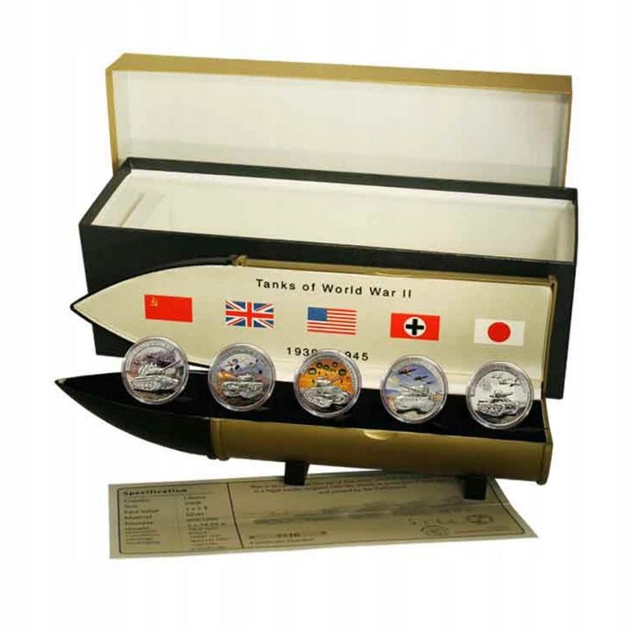 2008 5 x 5 $ Czołgi II Wojny Światowej 5 Monet