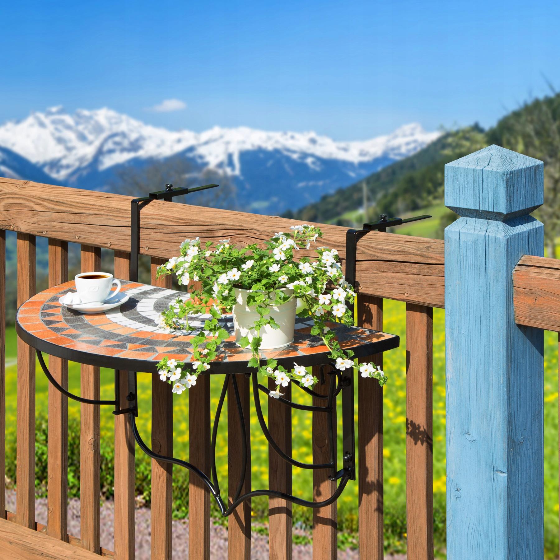 Skladací mozaikový balkónový stôl 402774 Výrobca TecTake