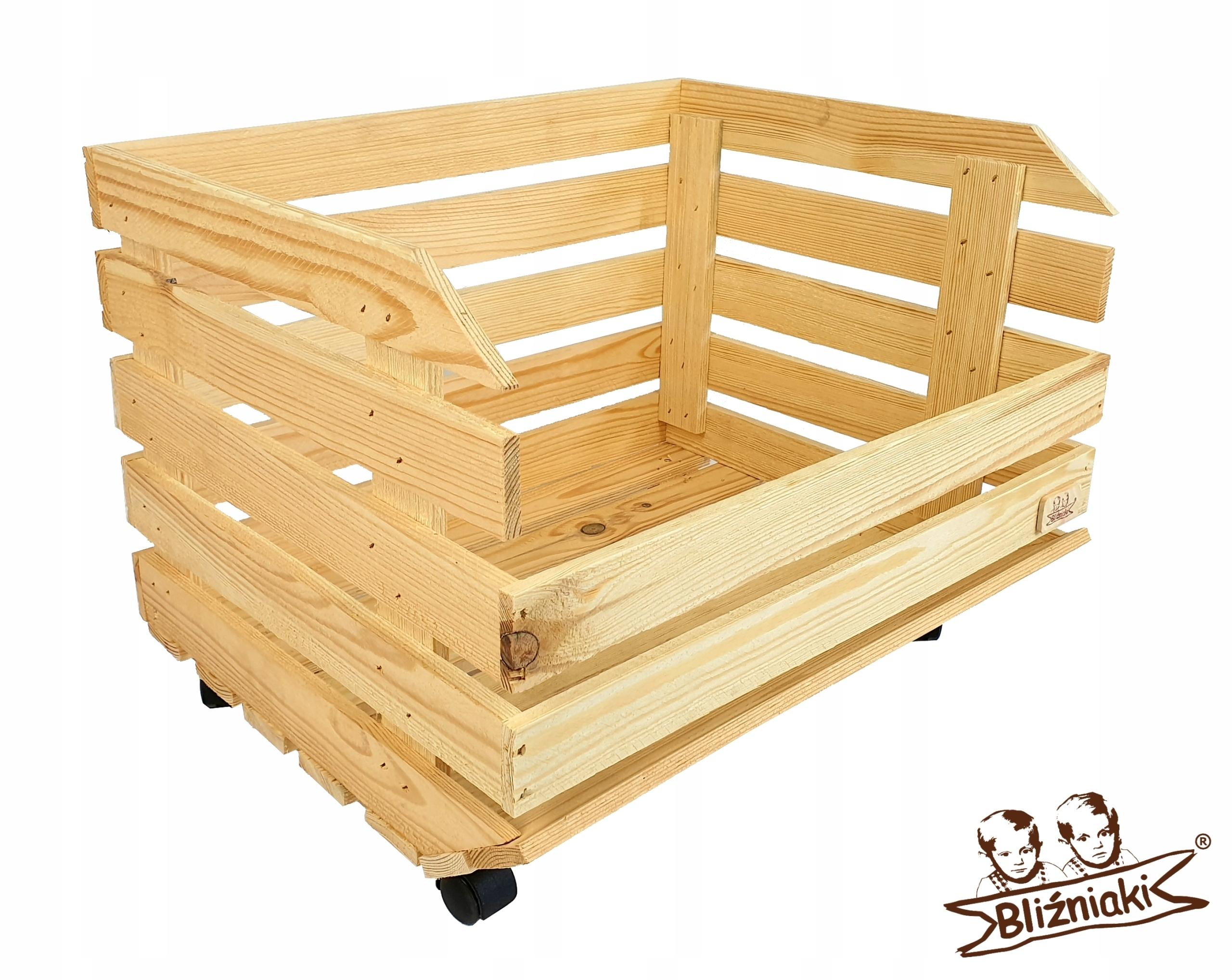 Drevený box na zeleninu, ovocie Na 4 kolesá