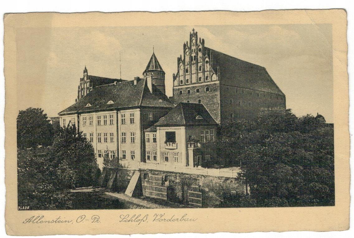 Открытка 1940 Ольштынский замок