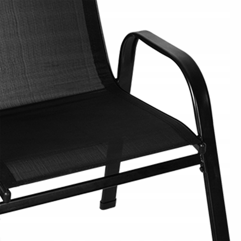 Meble na Balkon Ogród Taras Komplet Stół 2 Krzesła Kolor dominujący czarny