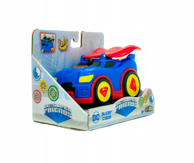 SUPERMAN AUTO ŚWIATŁO DŹWIĘK NAPĘD DC SUPER CAPE Wiek dziecka 3 lata +
