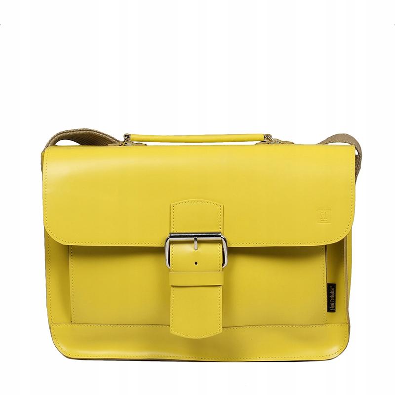 Vintage retro kožená taška žltý Torbal Elephant