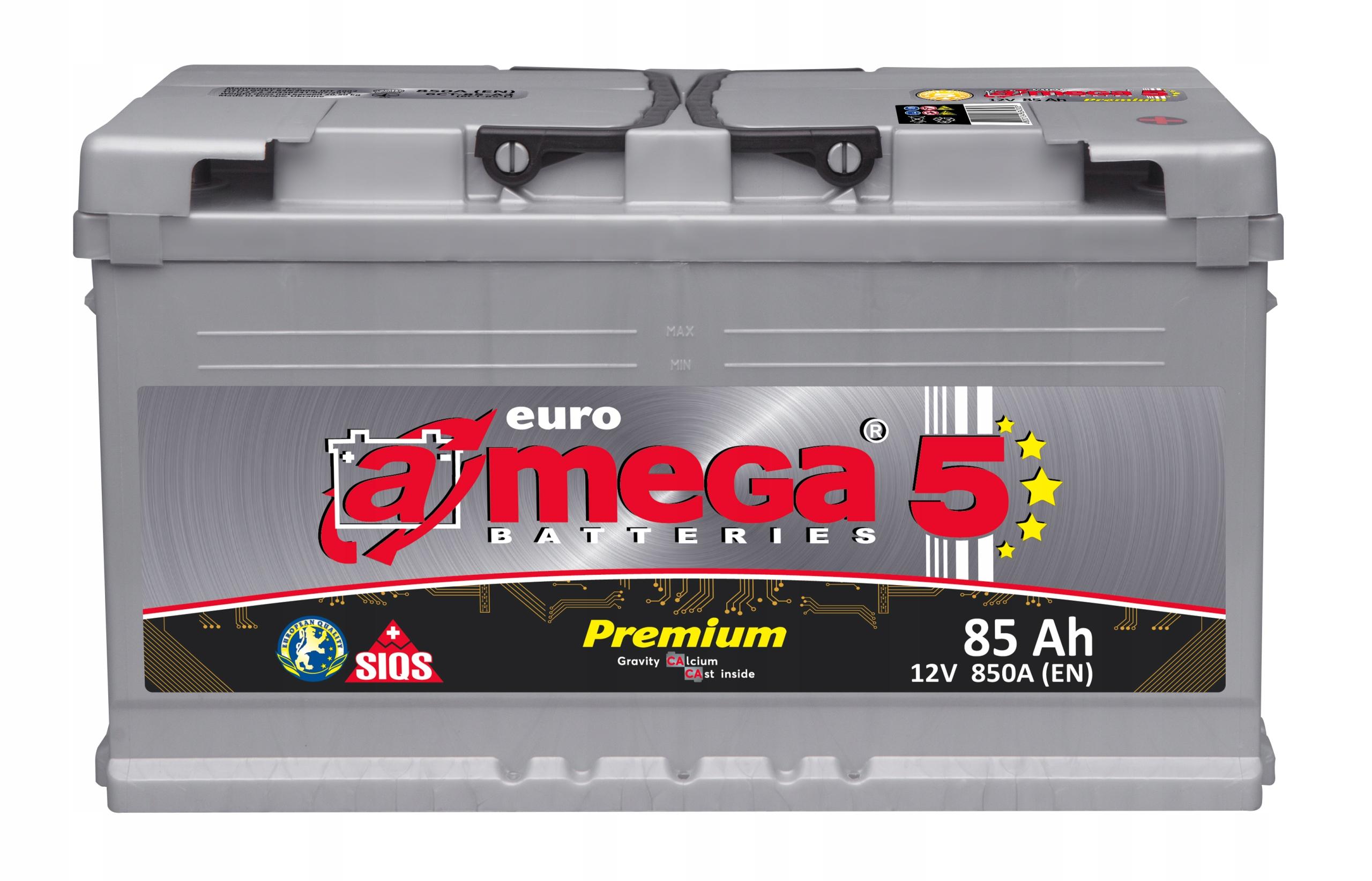 аккумулятор amega премиум m5 12v 85ah 850a