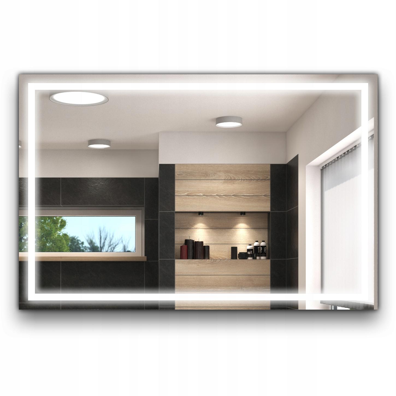 LED osvetlené kúpeľňové zrkadlo 80x60 L15-S