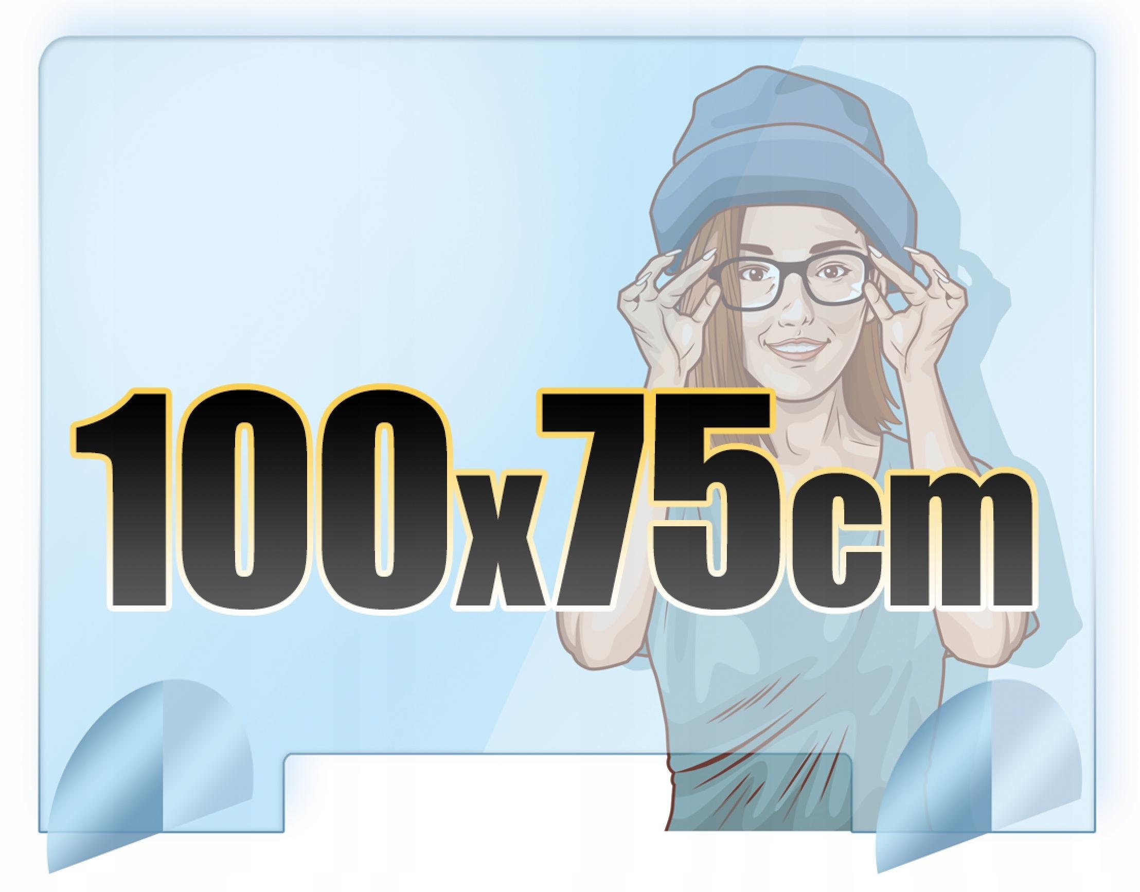 Stôl na ochranné sklo z plexiskla 100x75 + ZDARMA Kód výrobcu Kryt, sklo z plexiskla na pulty