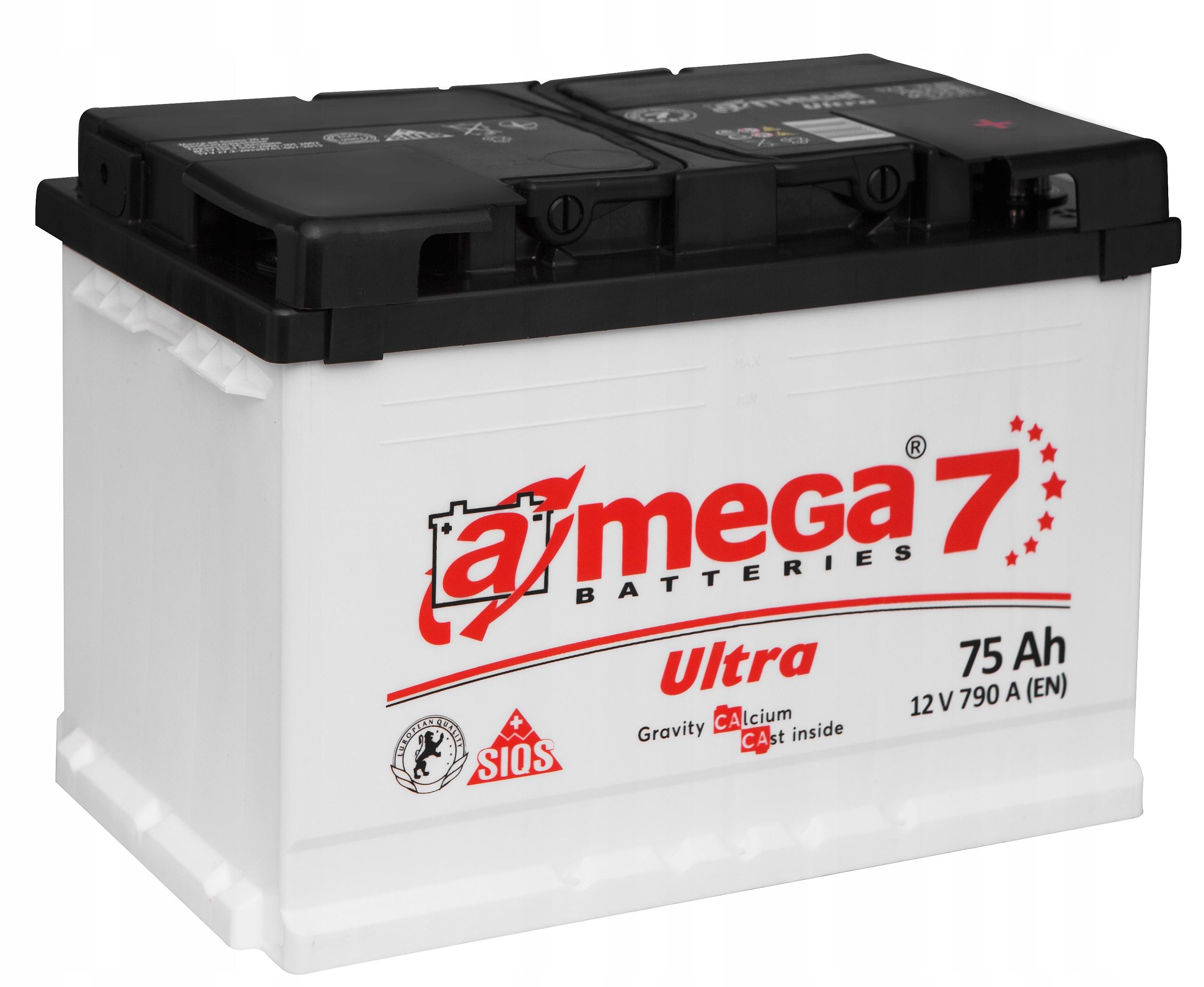 аккумулятор amega ultra m7 12v 75ah 790a
