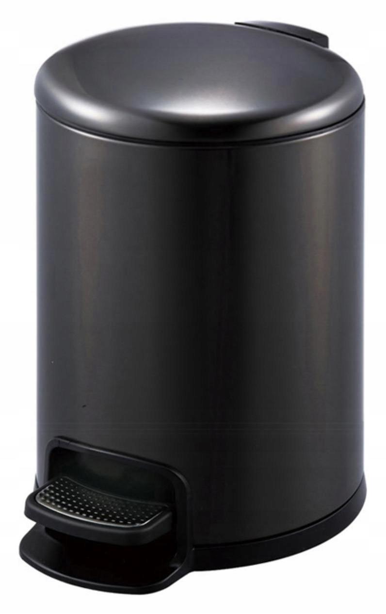 Okrúhly čierny odpadkový kôš 8 L