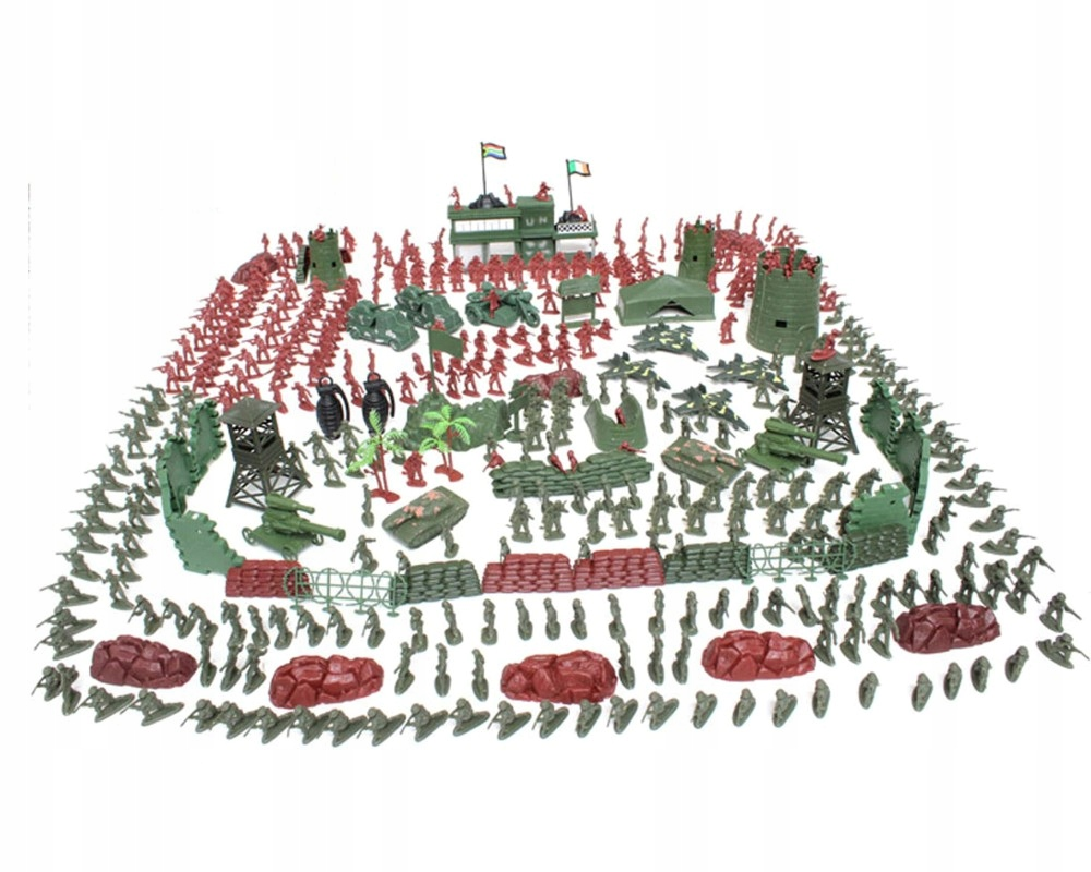 VOJENSKÁ SADA VOJNOVÍ vojaci figúrky 500 ks