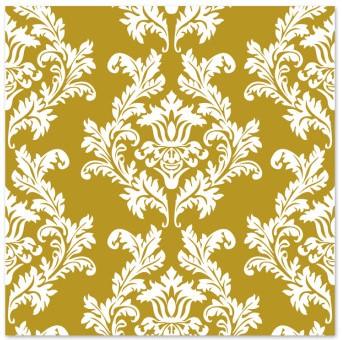салфетки для декупажа белый орнамент золотой фон 2шт