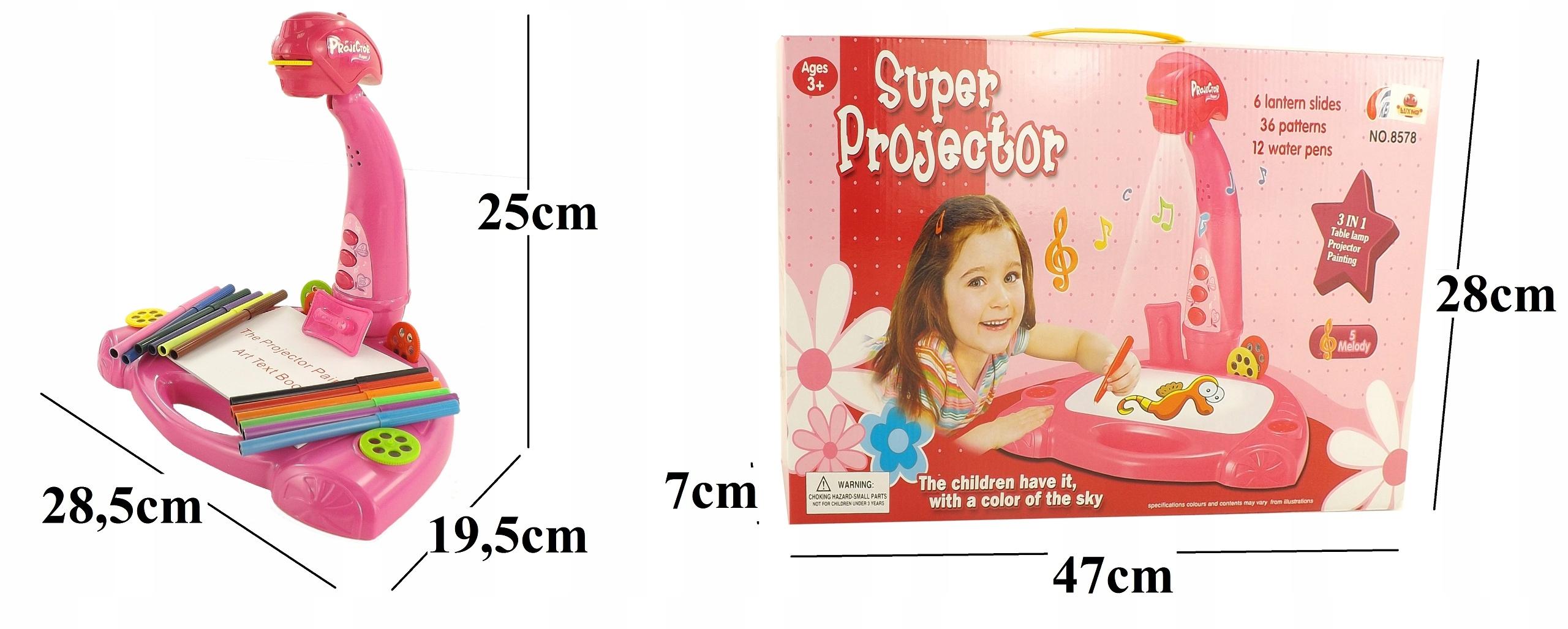 PROJEKTOR RZUTNIK DO NAUKI RYSOWANIA 3W1 - 8578 R Głębokość produktu 19.5 cm