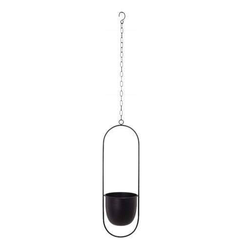 подвесная корзина для цветочных горшков - черный овал