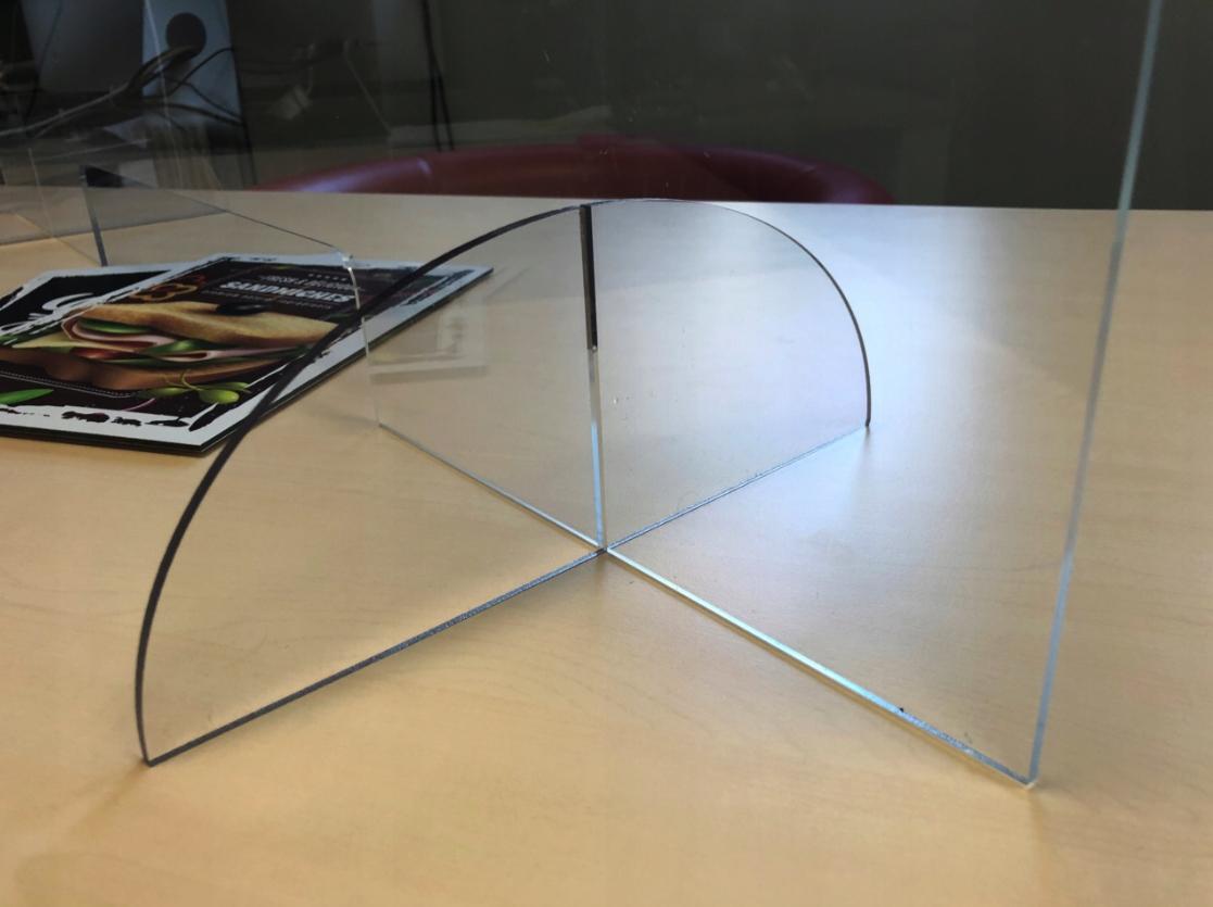 Plexisklový kryt, ochranné sklo, písací stôl 100x75 + ZDARMA Materiál vyrobený z polykarbonátu