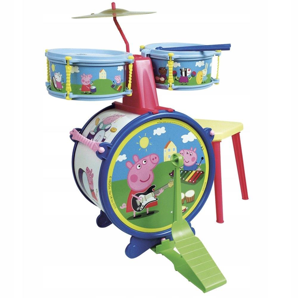 Reig Peppa PigPEPPAPIG2323 Bubnová súprava so stoličkou