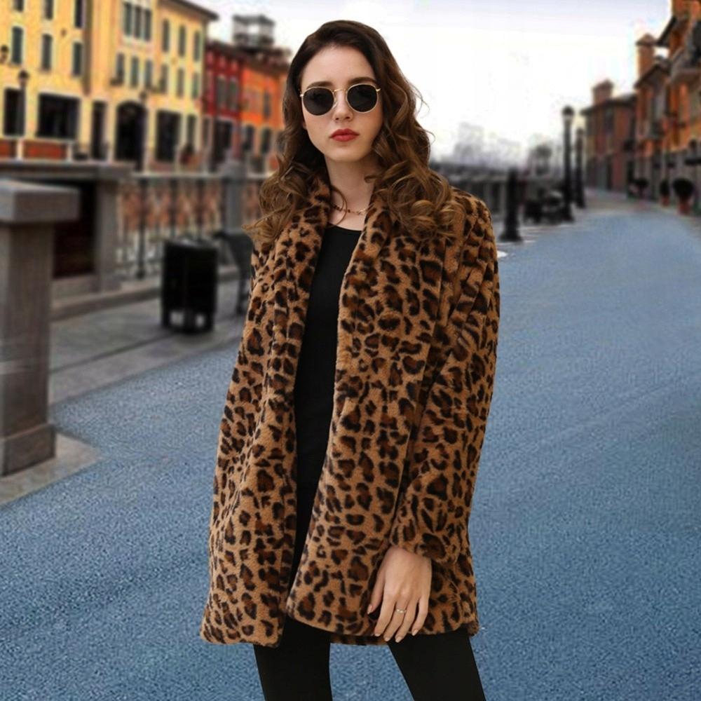 Umelý kožuch retro bunda jeseň zima S