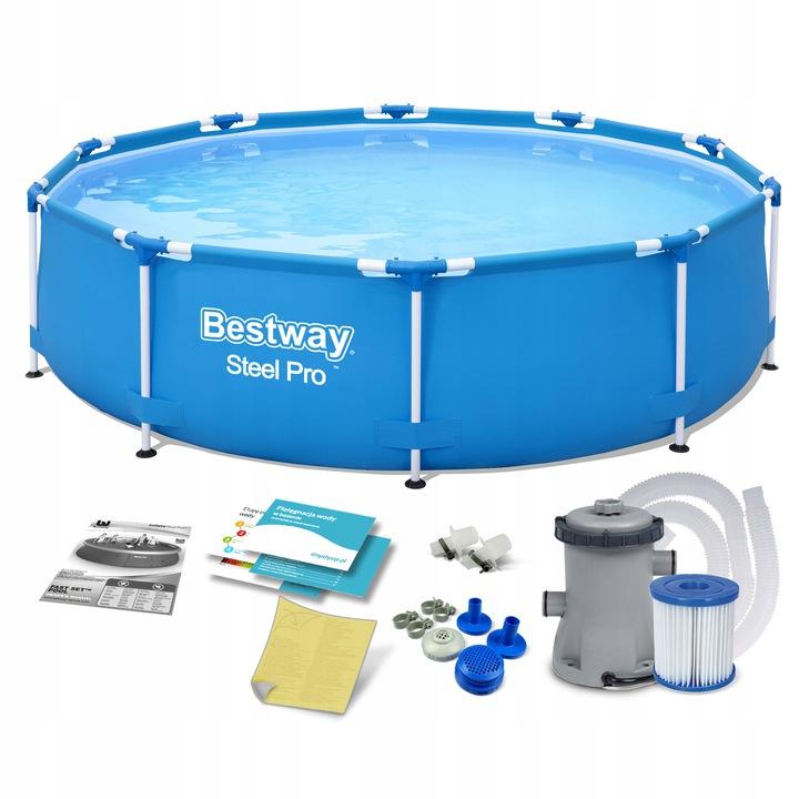 Каркасный бассейн насос BESTWAY STEEL PRO 366x76см
