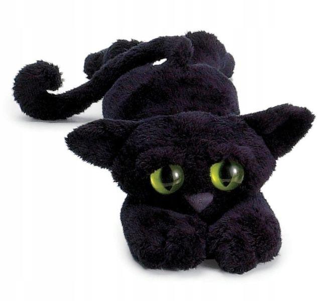 Čierny plyšový maskot Mačka LankyCats ManhattanToy