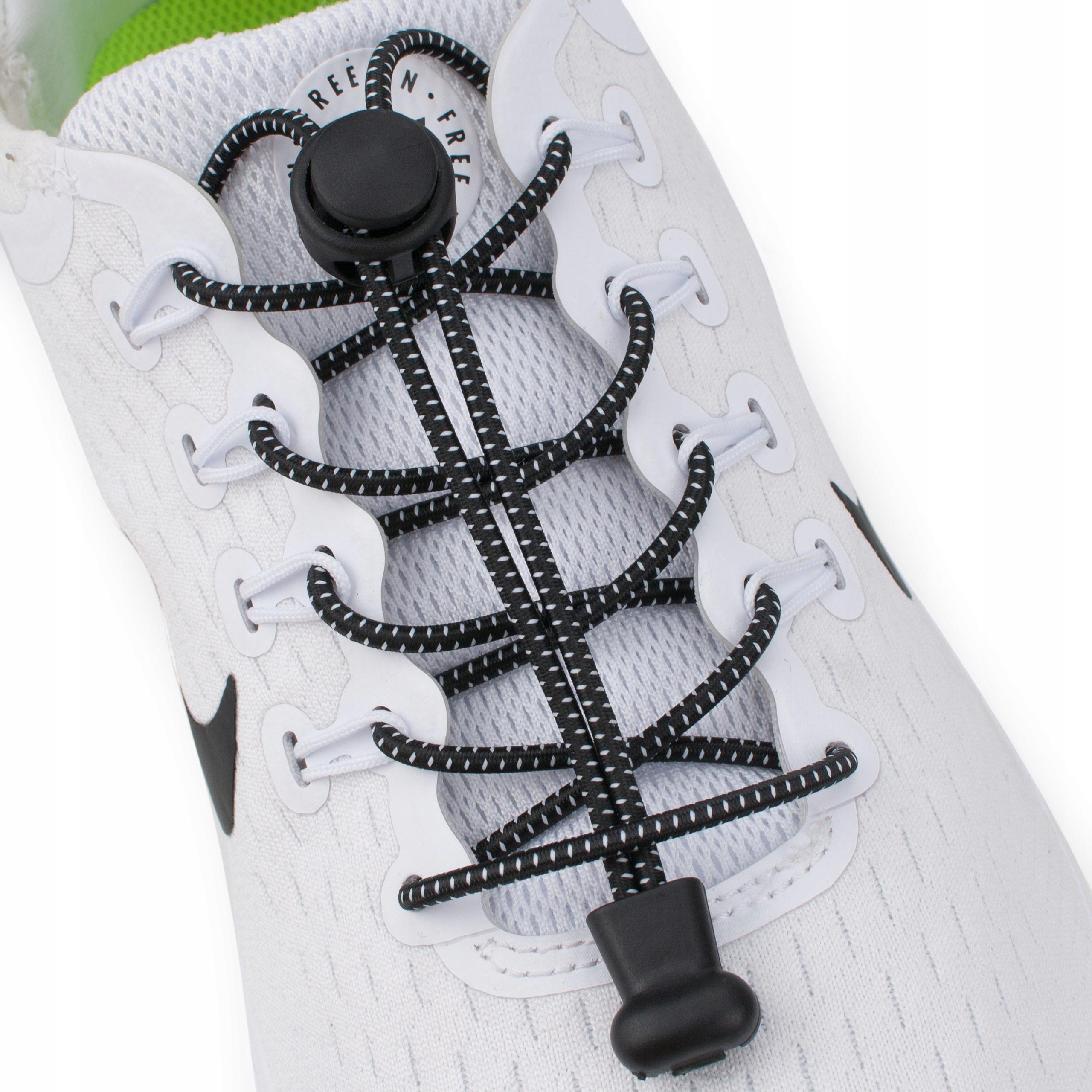 Упругие шнурки без связывающих резиновых цветов