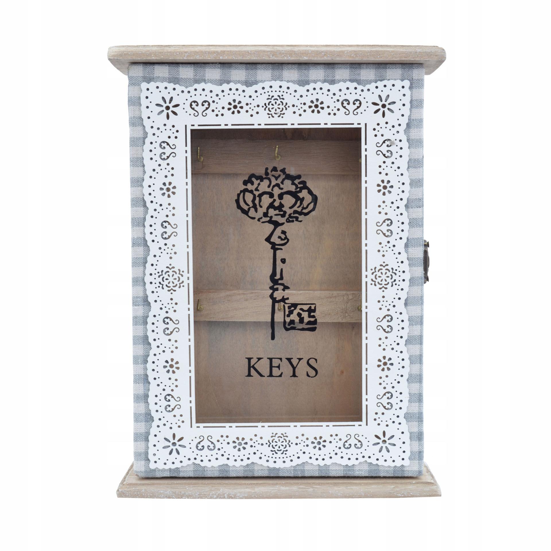 Skrinka, vešiak na kľúče, retro drevená rakva