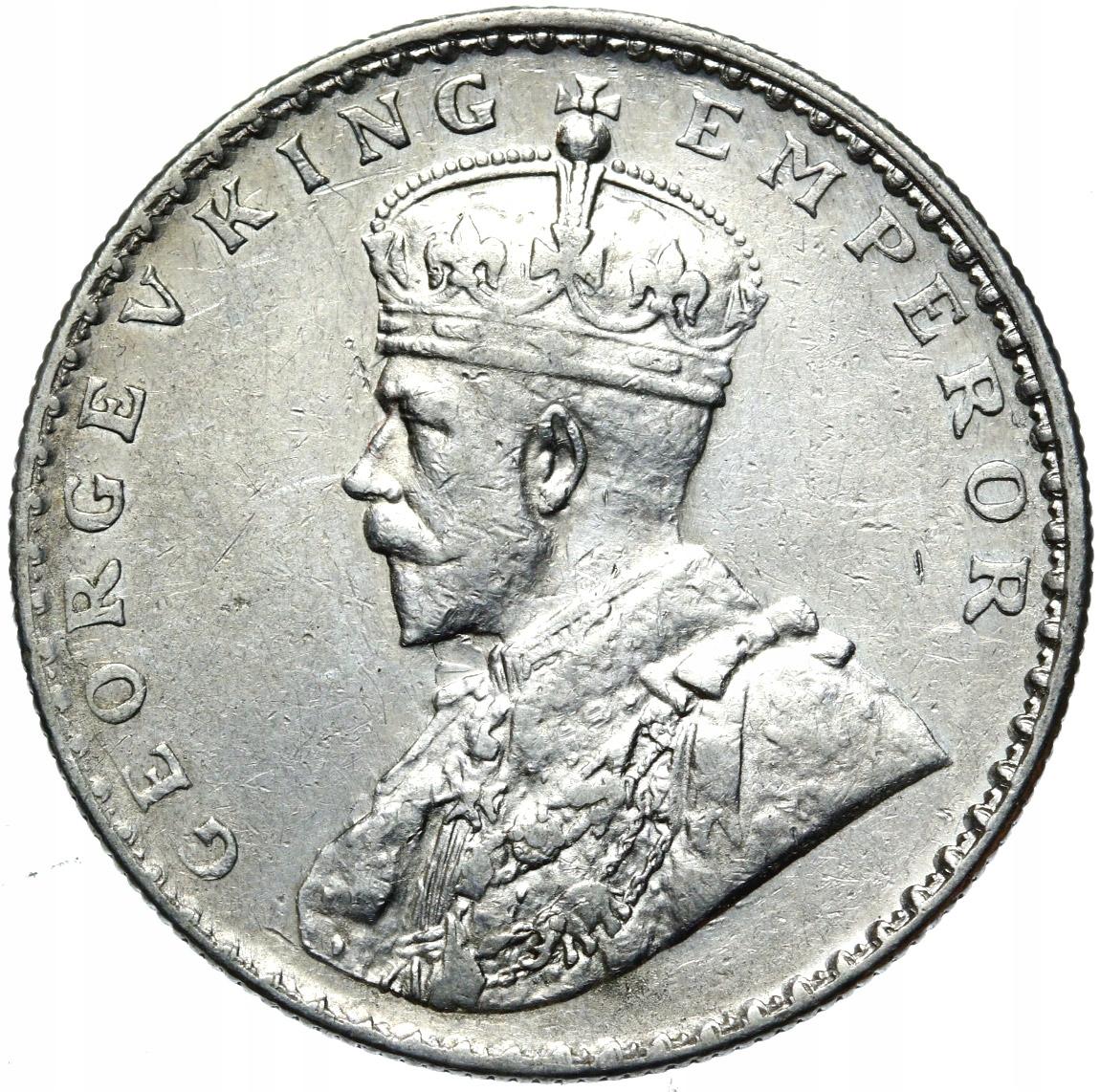 + Британская Индия - Георг V - 1 рупия Серебро 1912 г.