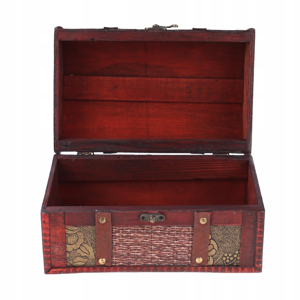 Drevené pokladnice Starožitné retro spony P