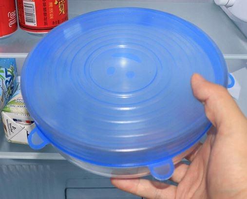 Pokrywki Silikonowe Uniwersalne do Żywności 6szt Cechy dodatkowe możliwość mrożenia możliwość mycia w zmywarce możliwość używania w kuchence mikrofalowej
