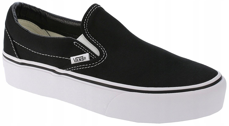 buty Vans Classic Slip On Platform Black