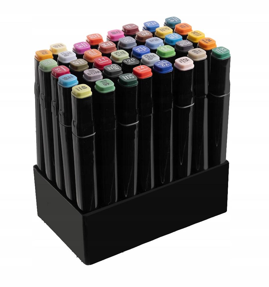 Markery Kolorowe Zakreślacze Pisaki Dwustronne x40 Rodzaj pisaki