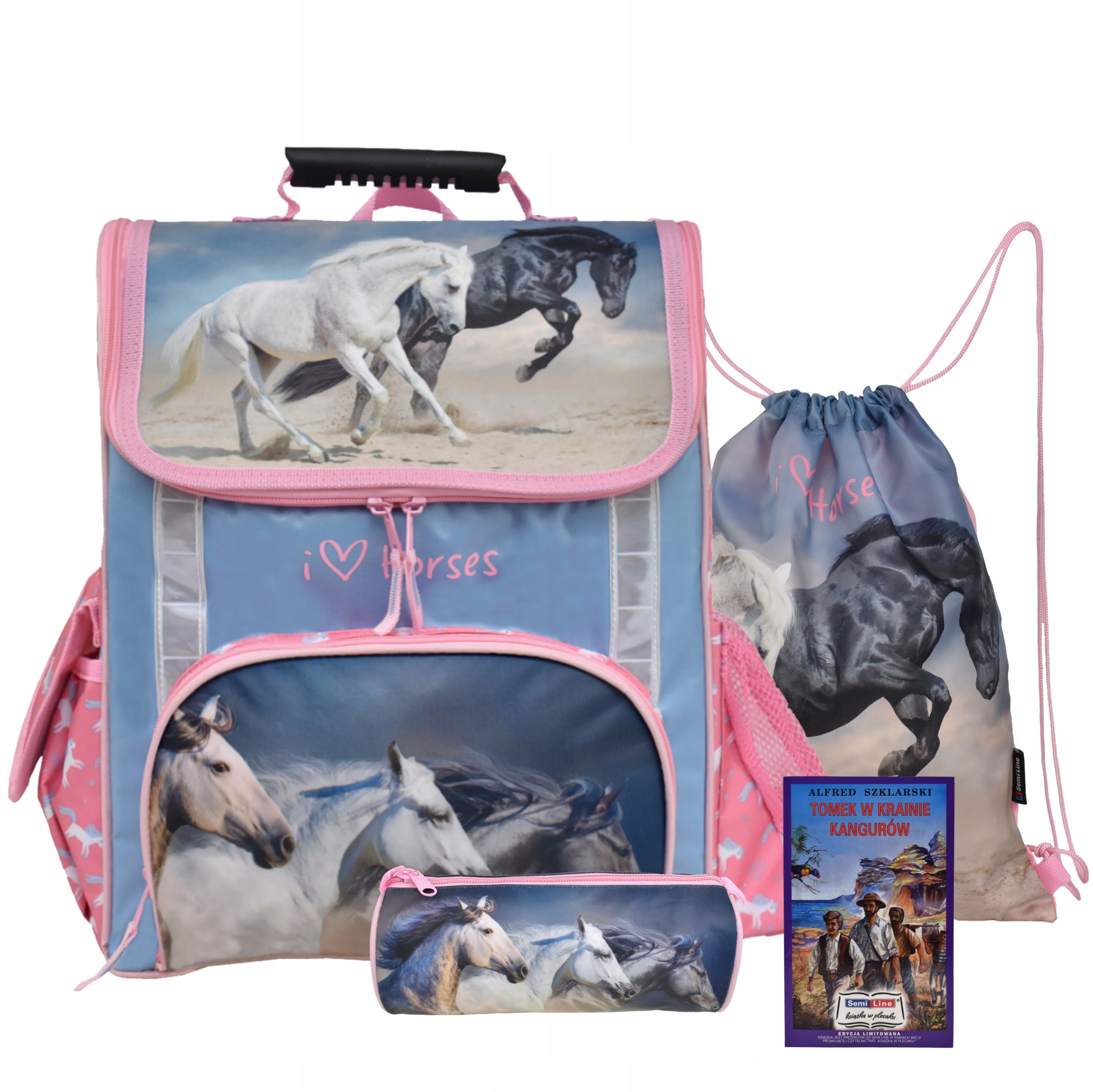TORNISTER, футляр для карандашей, сумка - набор розового цвета