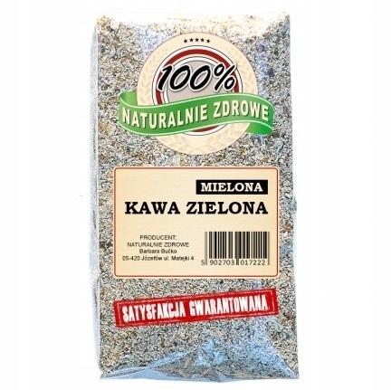 KAWA ZIELONA MIELONA 500g NATURALNIE ZDROWE