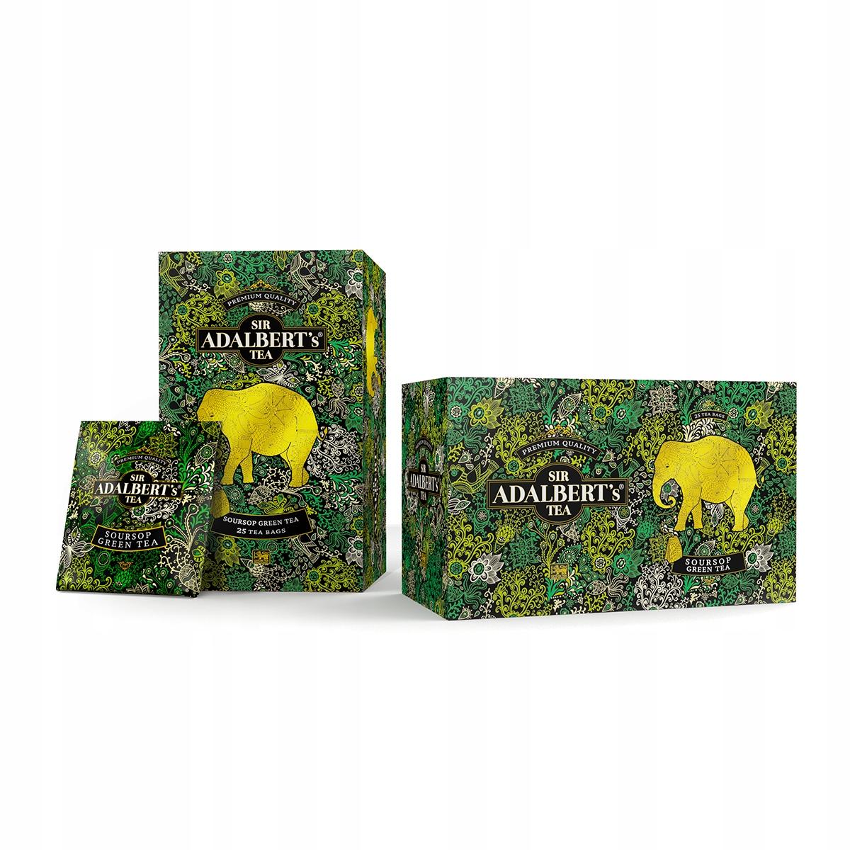Чай сэра Адальберта Green Soursop Green Tea 25x2g