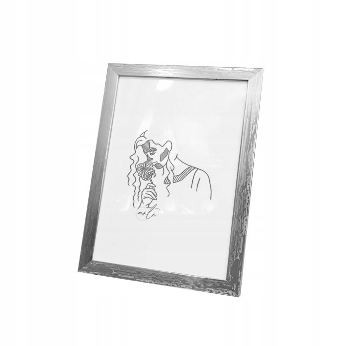 клетки на фото 15x21 - Рамка для фото - серебряный