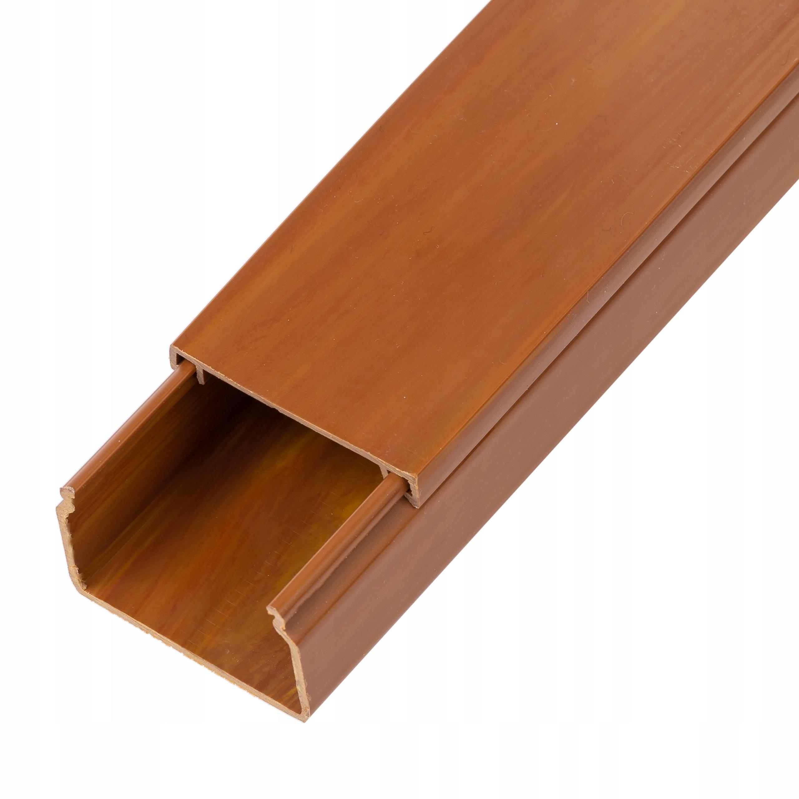 Listwa kanał kablowy korytko brąz drewno 40x 25 2m