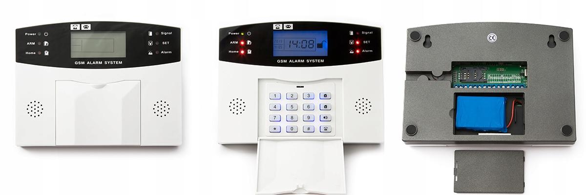 PRZEWODOWY ALARM LCD GSM APP SYRENY POLSKI 5 PIR Waga produktu z opakowaniem jednostkowym 1 kg