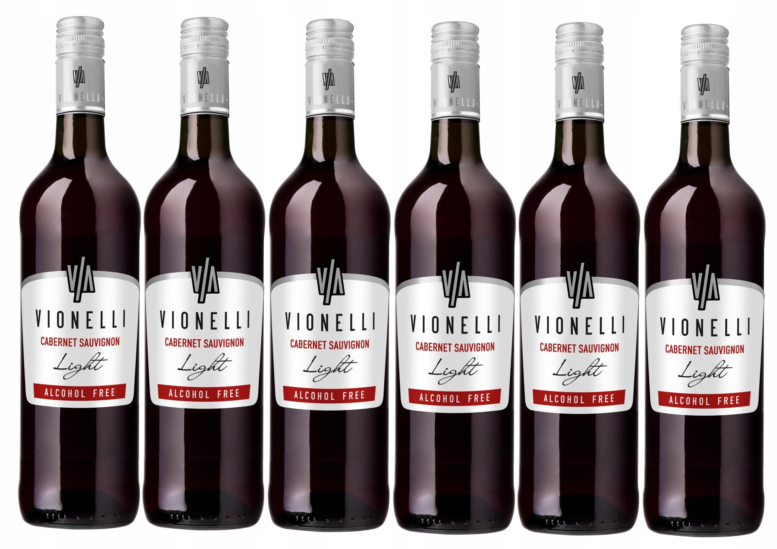 Wino Włoskie Vionelli Czerwone 0% zestaw 6 win