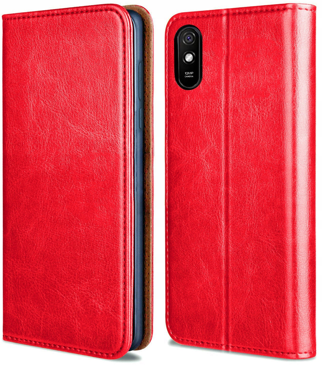 Etui do Xiaomi Redmi 9A Skórzane Portfel + SZKŁO