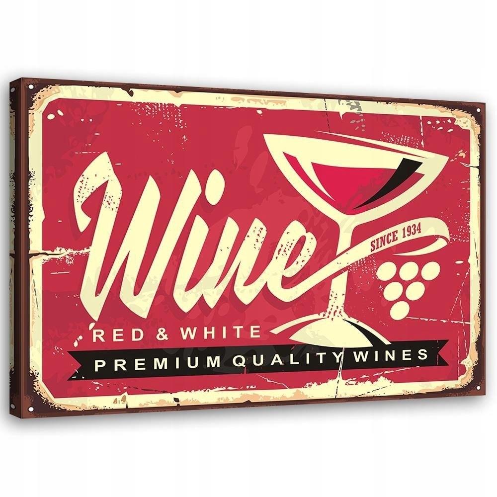 Obraz na plátne - Plátno, Červené víno 60x retro
