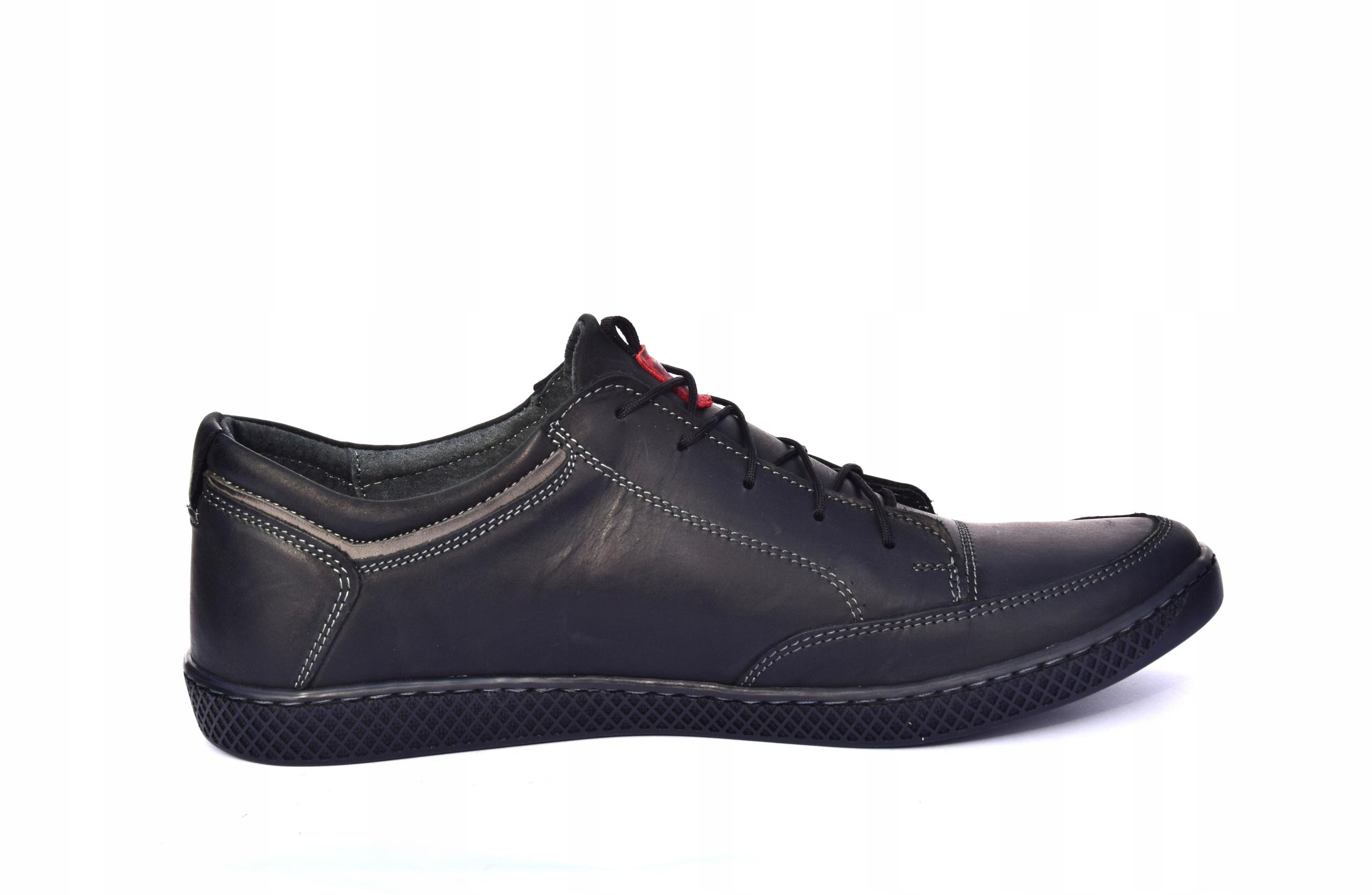 Półbuty sznurowane skórzane obuwie polskie 0447 Rozmiar 41
