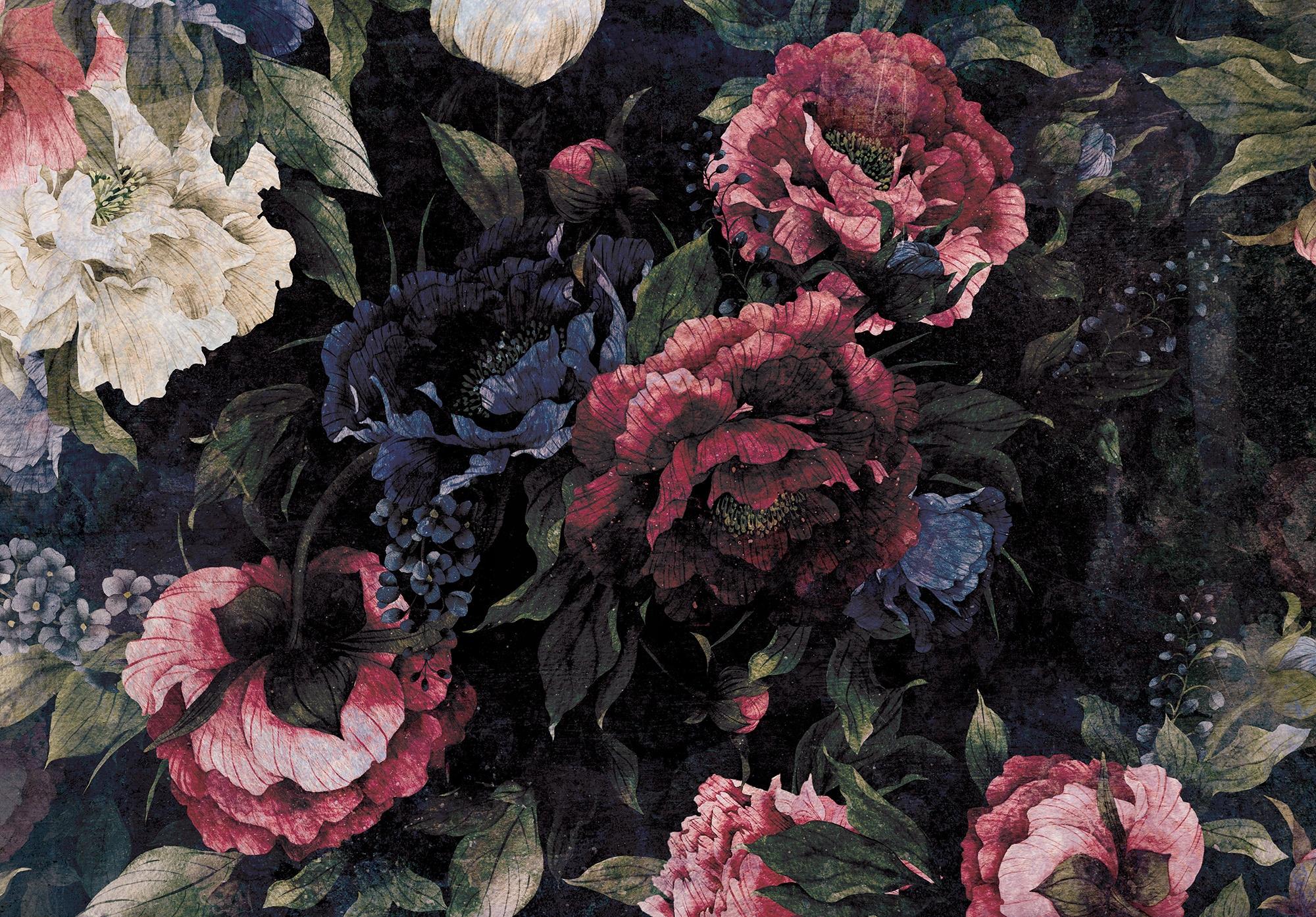Fototapeta do sypialni PEONIE kwiaty róża 368x254
