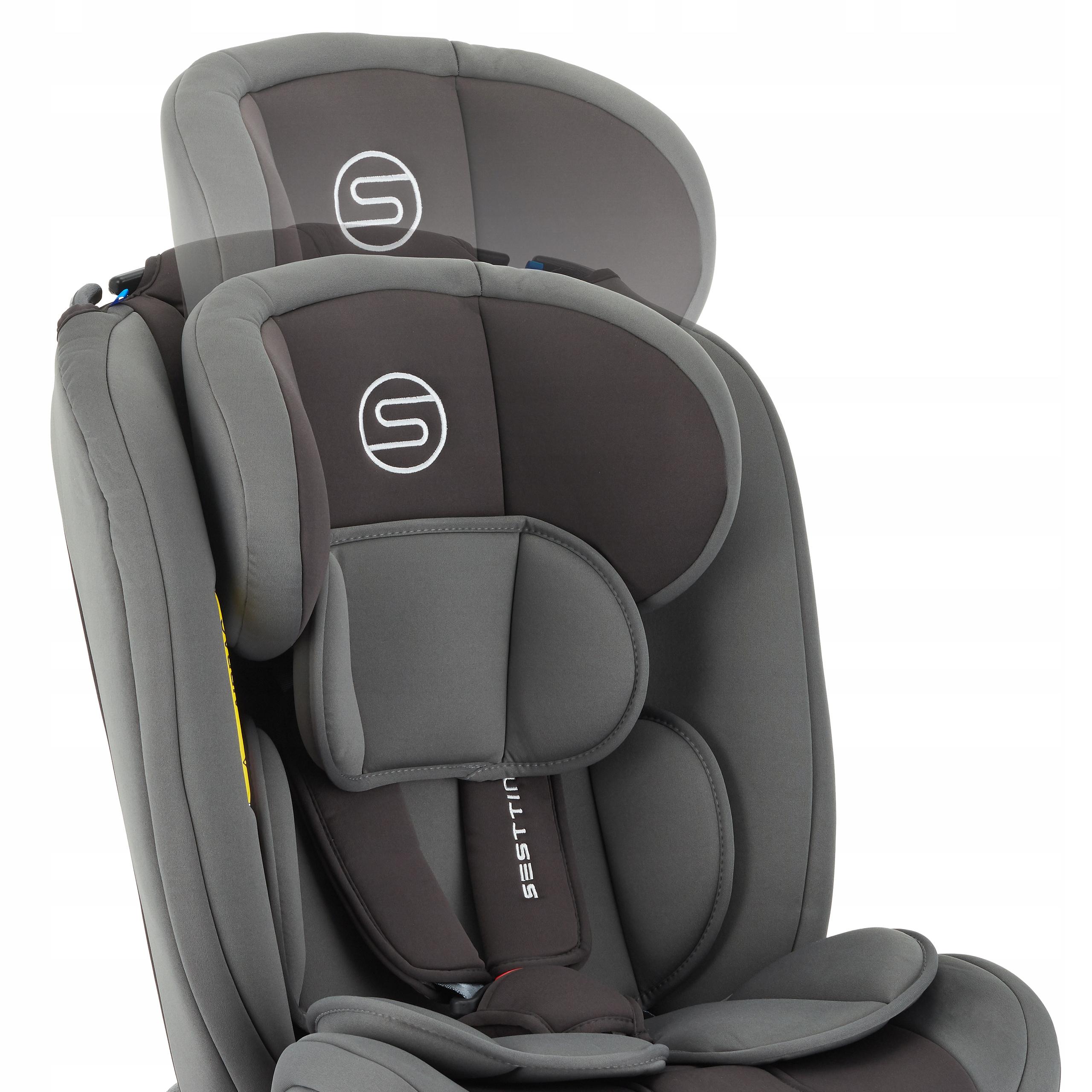 Fotelik samochodowy Sesttino Secure PRO 0-36kg Kolor odcienie szarości i srebra
