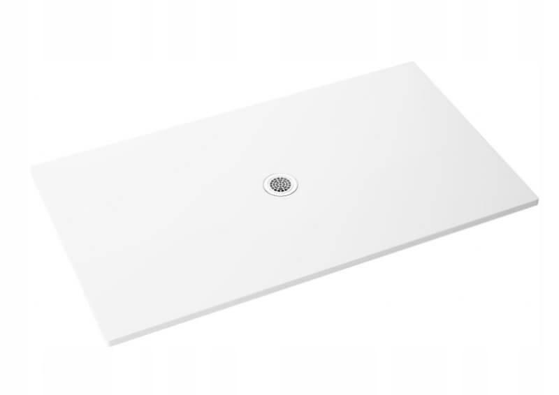 Fresková obdĺžniková sprchová vanička Biela 120x80x1,3x2,5 cm