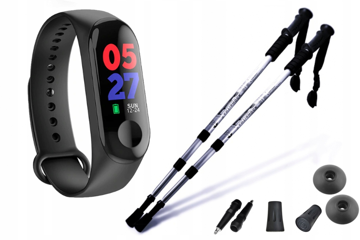 NORDIC WALKING kijki trekkingowe 2szt i SMART BAND