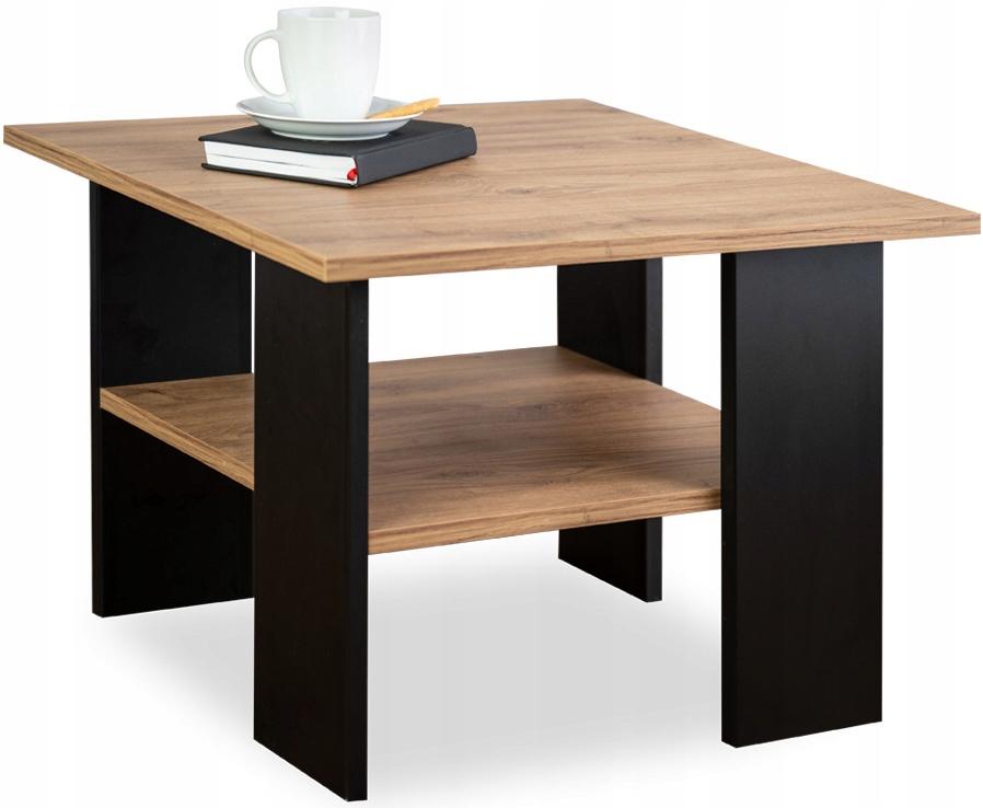 Журнальный столик Черный журнальный столик / Old Oak Loft FPST1
