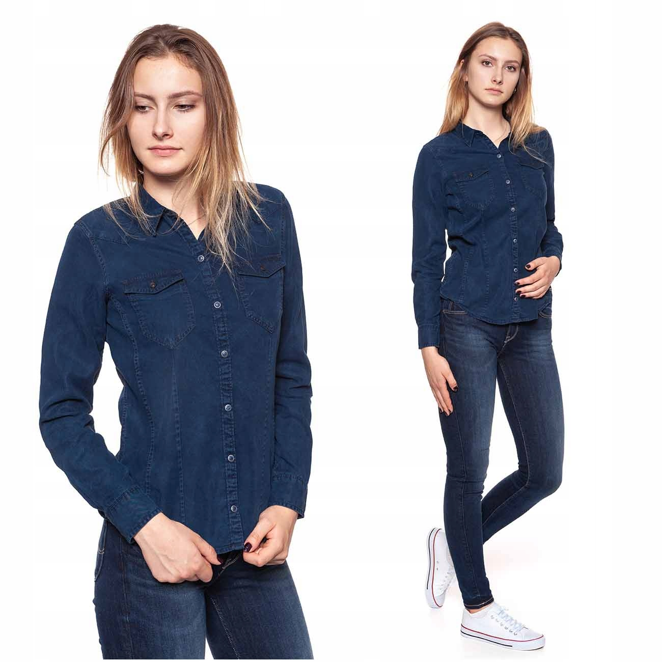 Wrangler Koszula Jeansowa Damska Bluzka Regular Xs