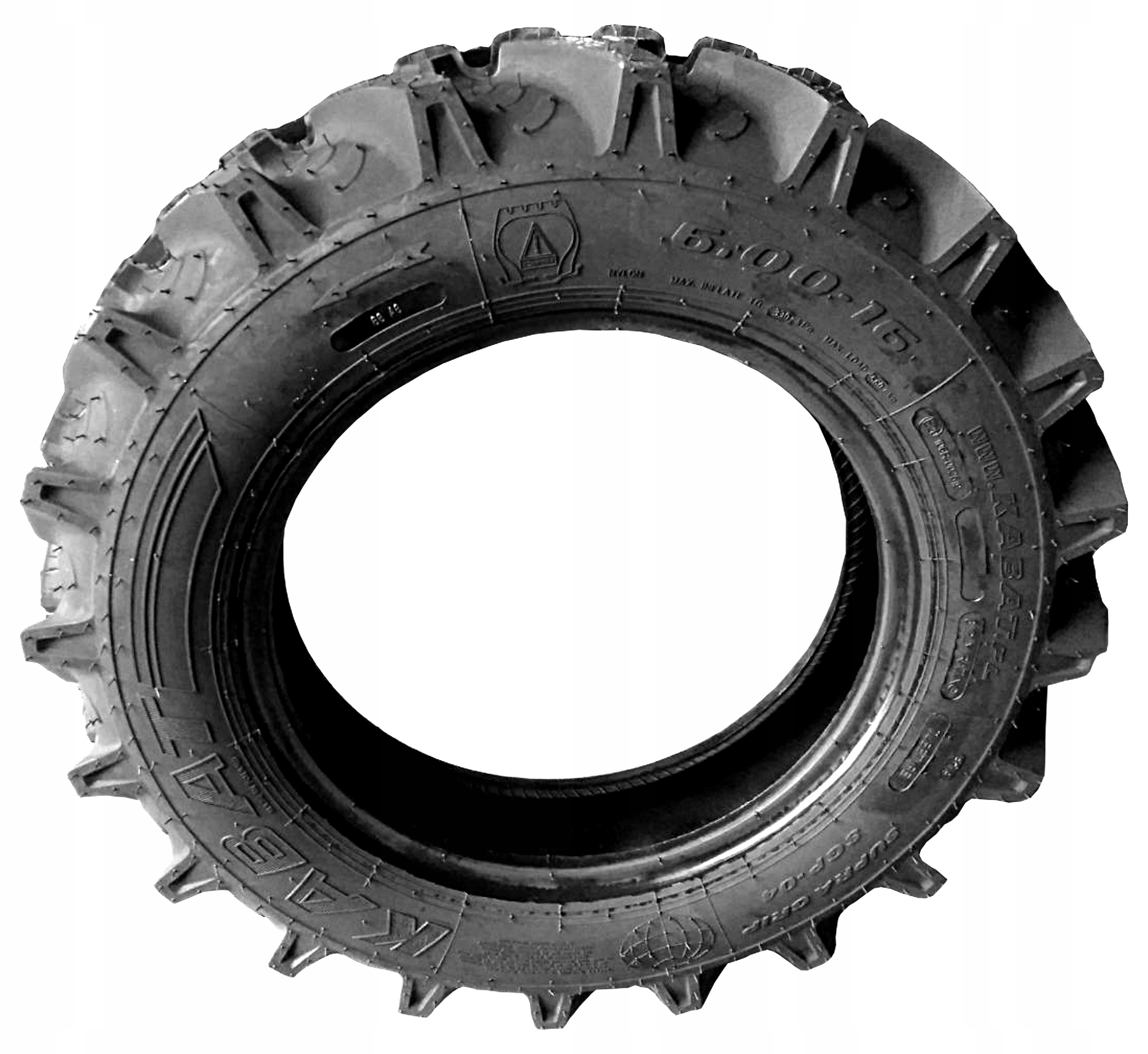 Picture of 8 RIGHT 2X TYRES DRIVE 6.00-16 REINFORCED 6-16 600-16
