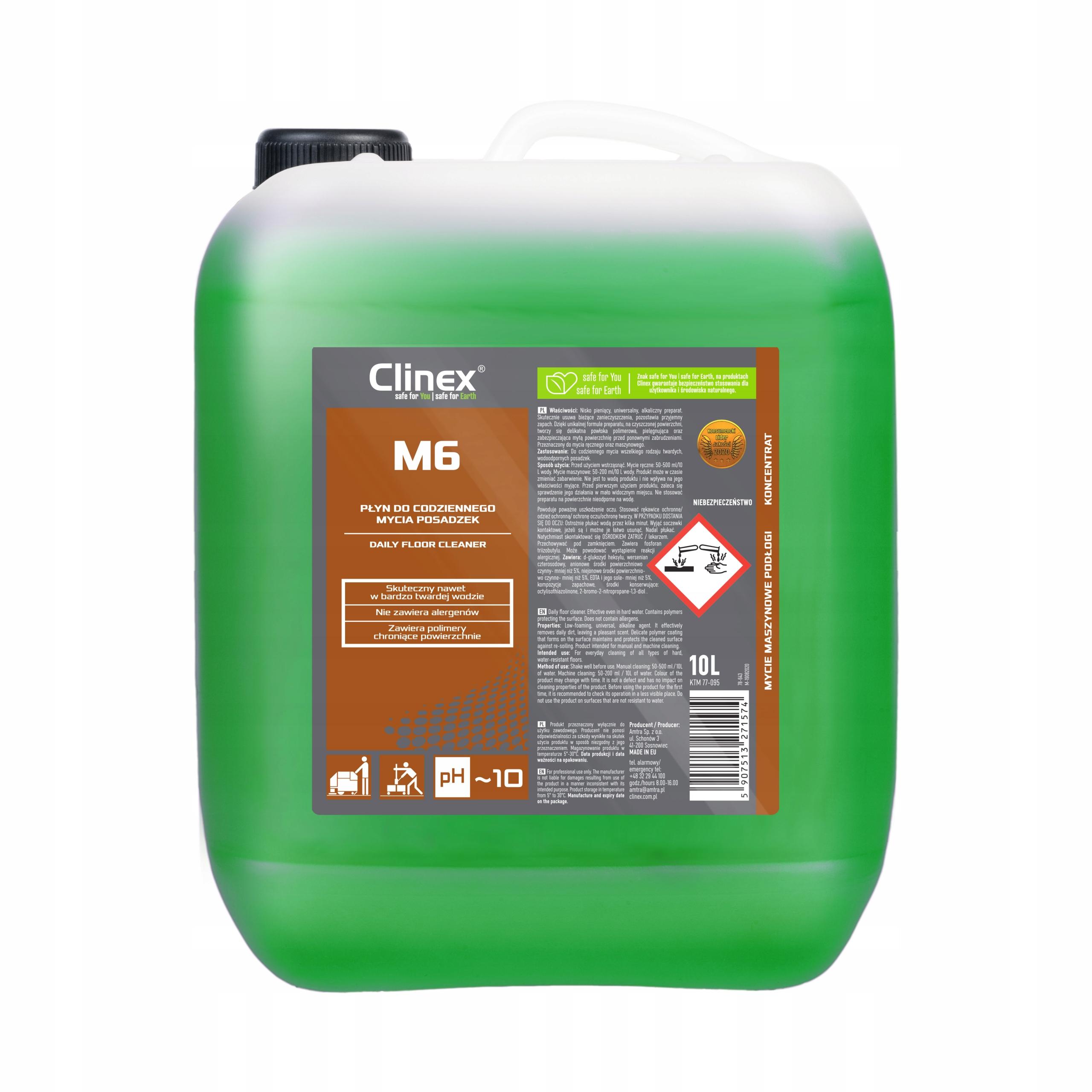 Clinex M6 Средний - Пол стиральная жидкость - 10 л