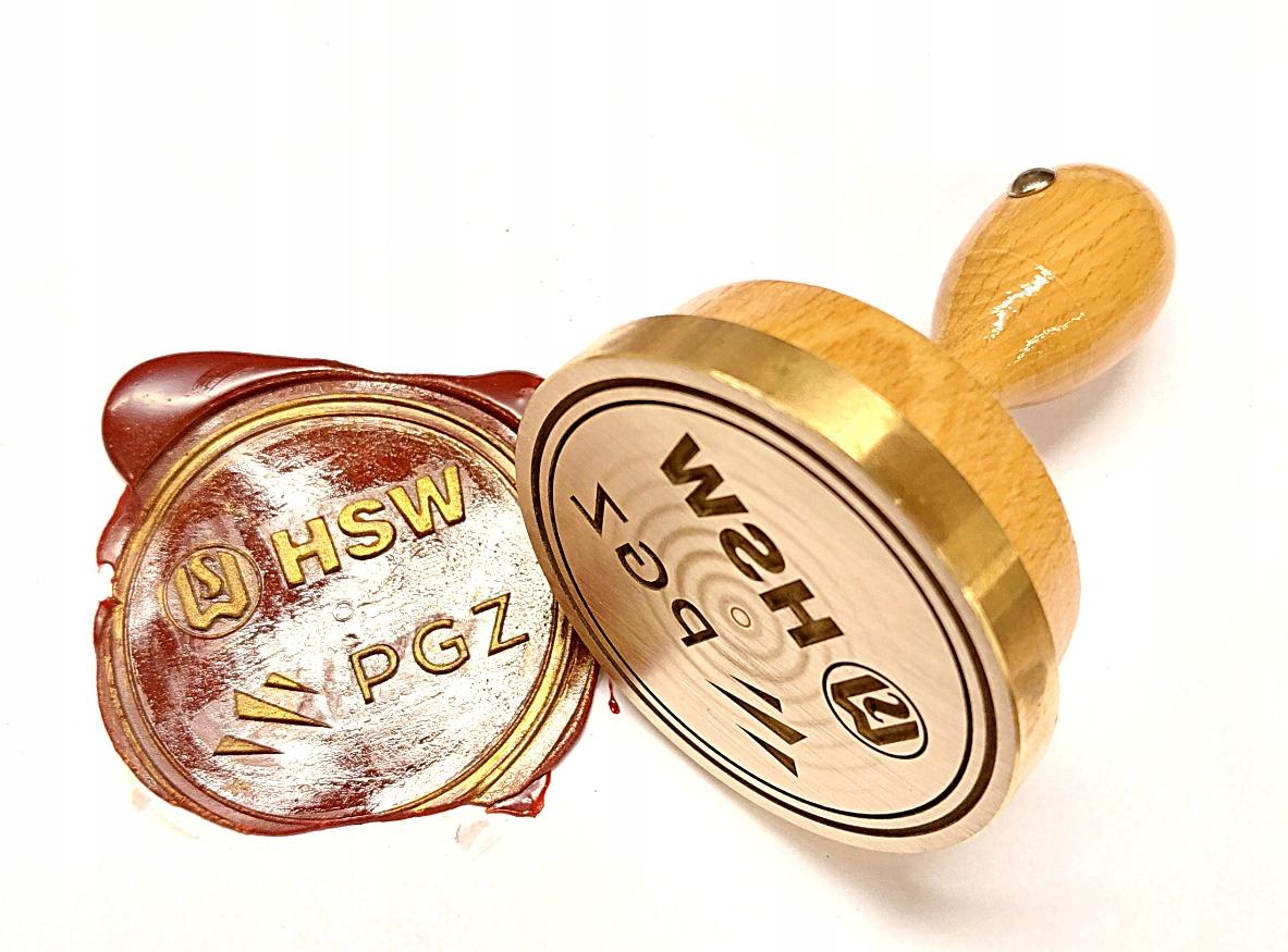 Referentka mosiądz 65mm pieczęć do laku lak gratis Kod producenta 5908258404012