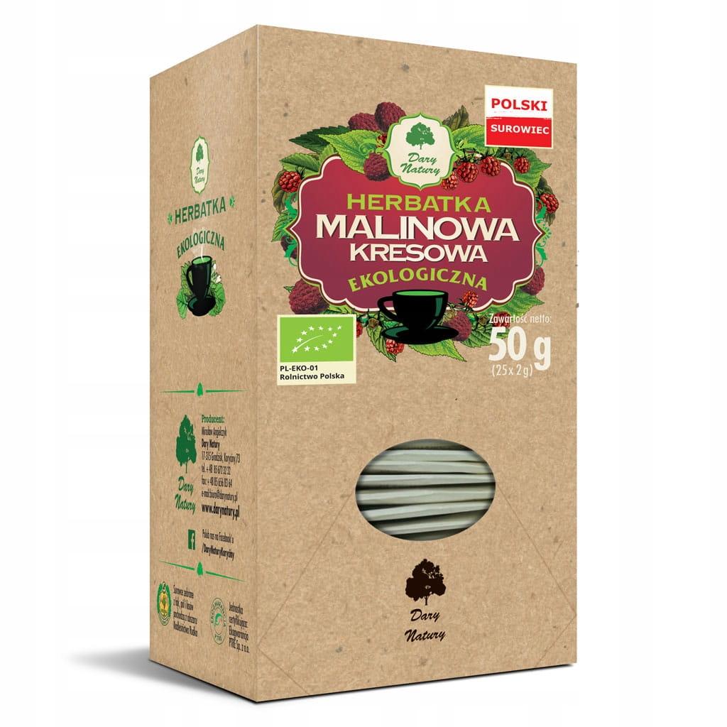 Herbatka Malinowa Kresowa Eko 25x2g Dary Natury