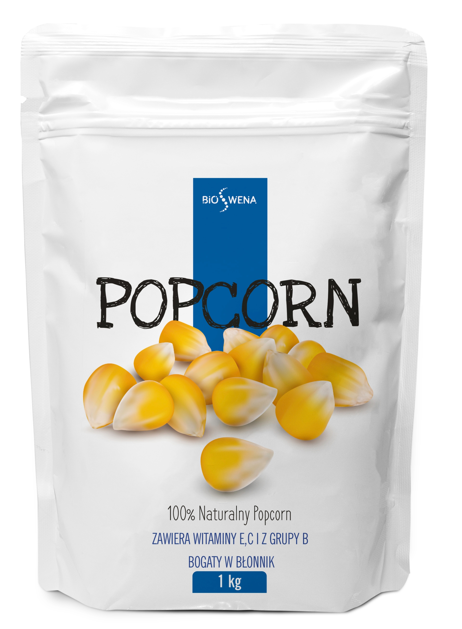 Popcorn ziarno 1kg KUKURYDZA do prażenia /BIOSWENA