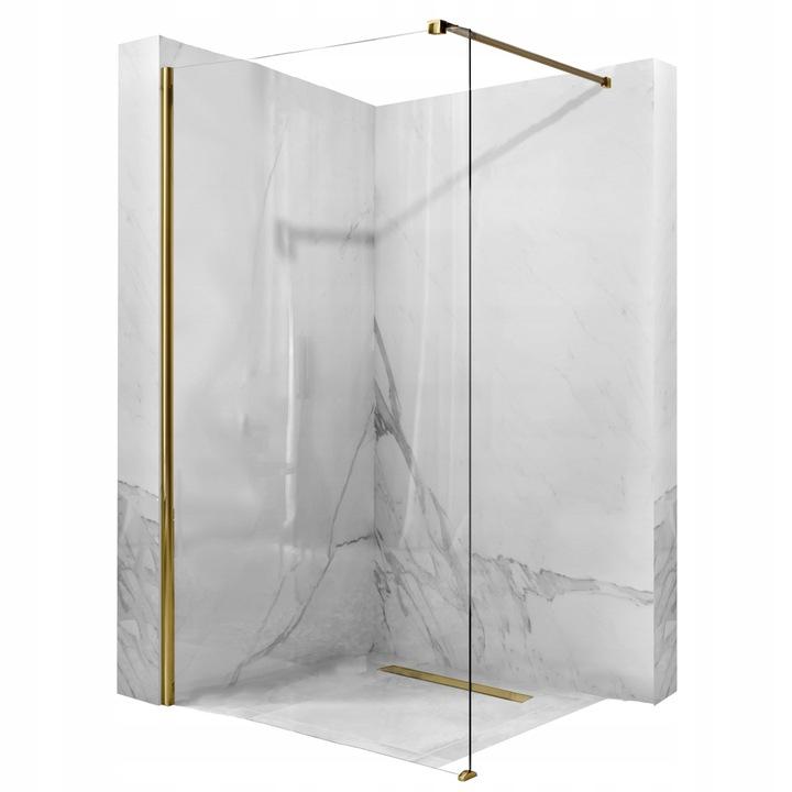 Sprchová stena Aero Gold 120x195 8mm zlatá